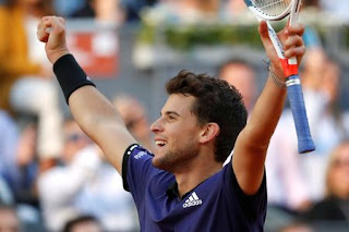 Thiem ousts Federer in Madrid Open