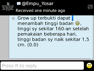 Testimoni Suplemen Peninggi Badan Grow Up Original USA