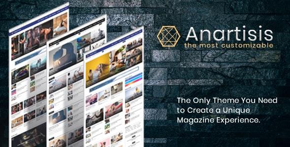 Anartisis v1.6.5 Premium Blogger Template