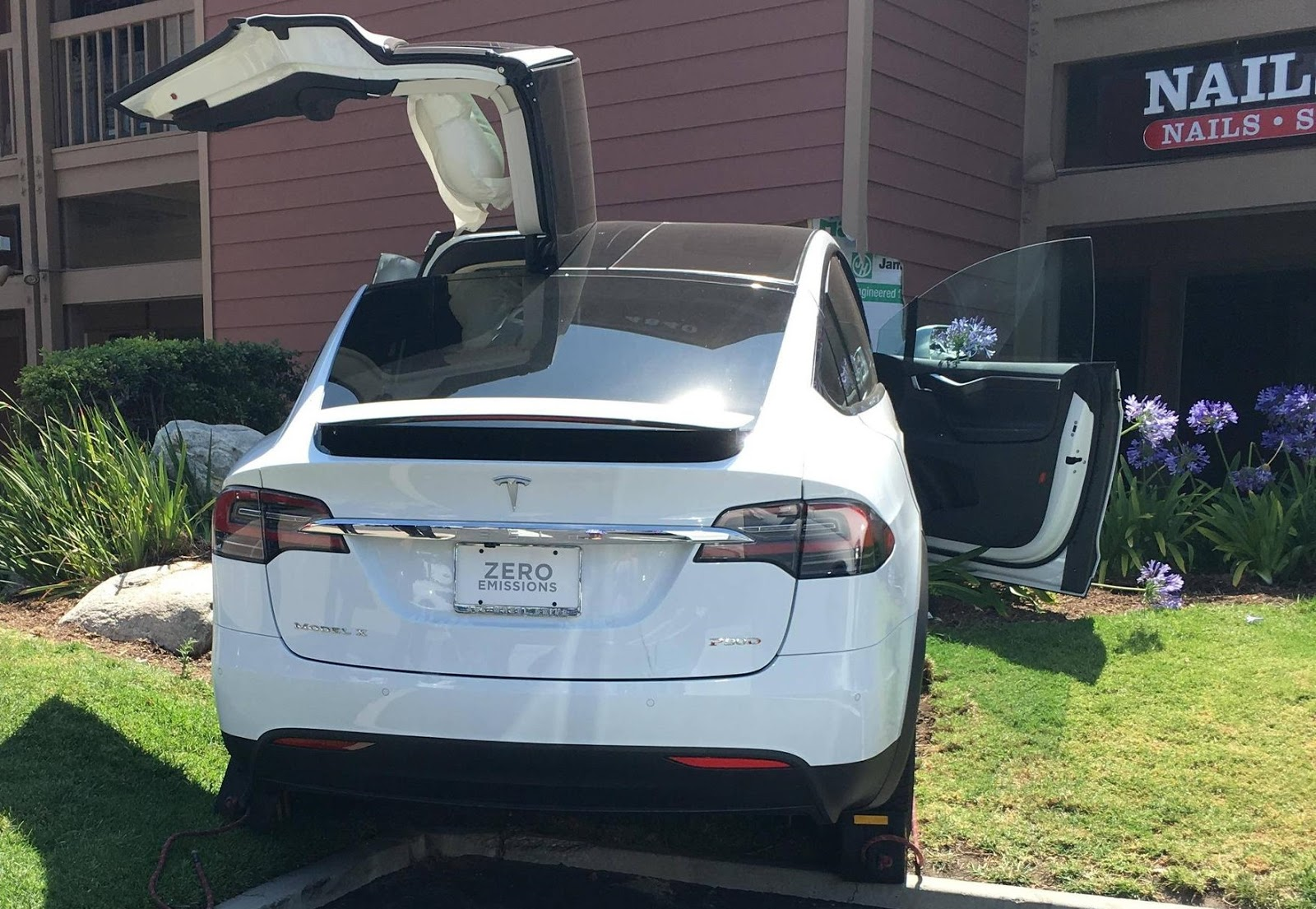 Tesla Malfunction Car Crash