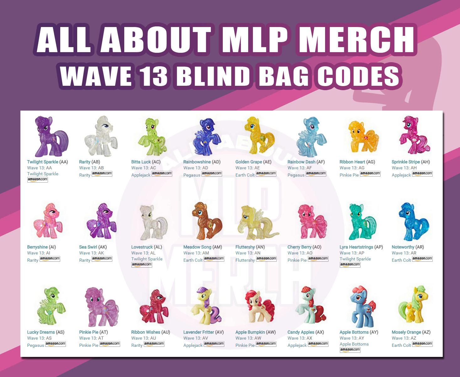 Wave 13 Blind Bag Codes Found Mlp Merch