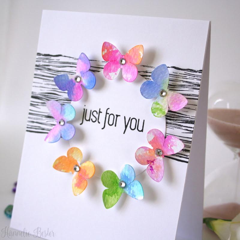 watercolor butterfly wreath