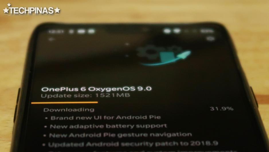 OnePlus 6 Android 9.0 Pie