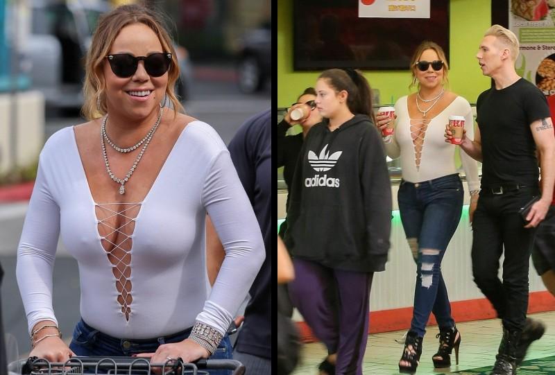 Foto Mariah Carey tanpa editan