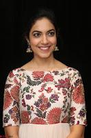 Ritu Varma smiling face Cream Anarkali dress at launch of OPPO New Selfie Camera F3 ~  Exclusive 023.JPG