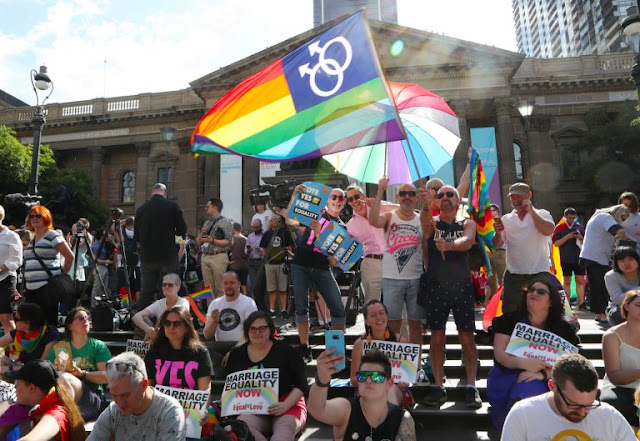 Australians have voted in favour of legalising same-sex marriage