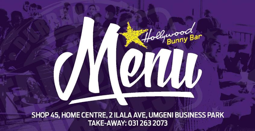 Hollywood Bunny Bar Menu - Springfield Home Centre / Retail Centre - Bunny Chow - Curries