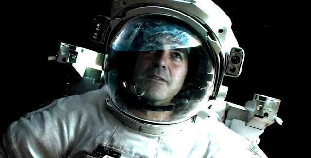 Gravity - George Clooney in spatiu