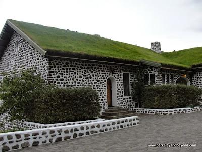 exterior of Gunnar Gunnarsson Museum at Skriduklaustur in Iceland