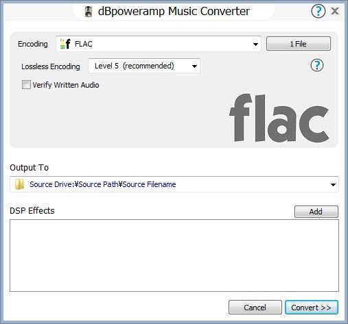 flac変換