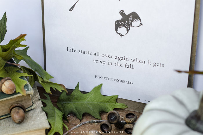 Acorns And Oak Leaves Free Printable For Fall Anderson Grant