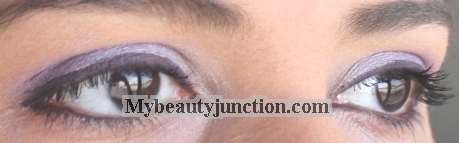 EOTD: Silvery lilac and lavender-purple smoky eye makeup look
