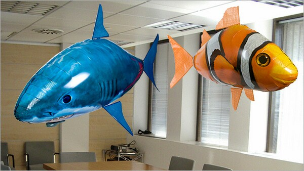 Playful Air Swimmer Remote Control Inflatable Flying Shark ...