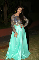 Nikki Galrani in Green Skirt  Top at Marakathamani music launch ~  Exclusive (126).JPG