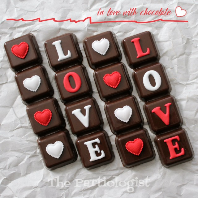 The Partiologist Valentine Chocolate Bars