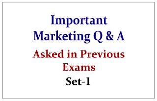 Marketing Questions asked in Previous SBI Exams-Set-1