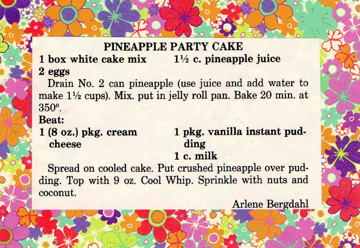 Pineapple Party Cake (quick recipe)