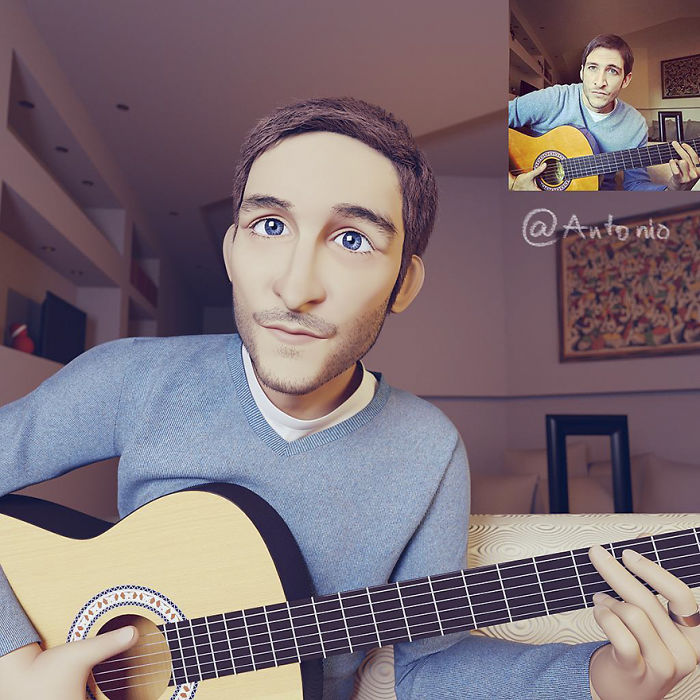 #7 - Artist Turns People Into 3D Pixar-Like Characters And You Can Become One Too