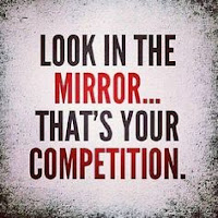 You are your own competition