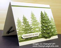 Stamping Off technique with Stampin'UP!'s Winter Woods stamp set and In the Woods Dies byStampLadyKatie