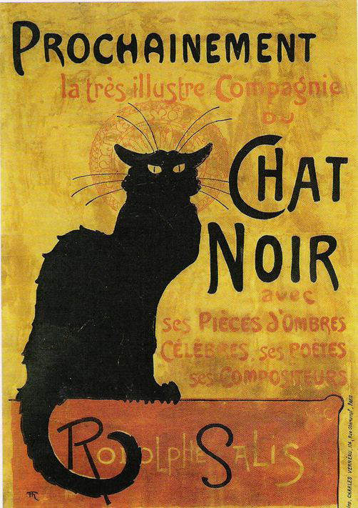 Le Chat Noir The Black Cat by Henri de Toulouse-Lautrec