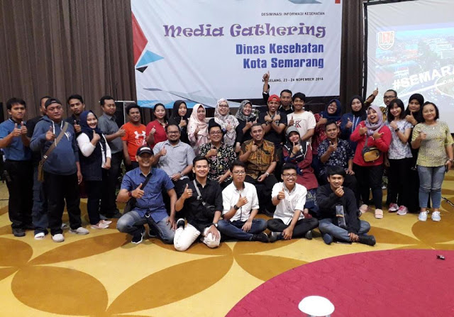 Desiminasi Informasi Kesehatan dan Media Gathering bersama Dinas Kesehatan Kota Semarang