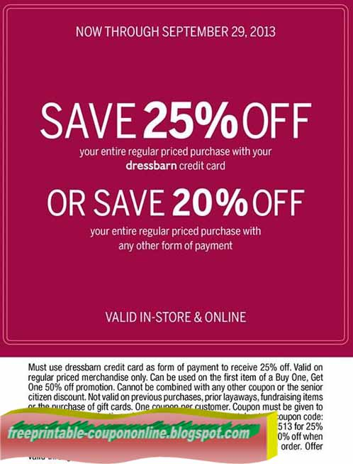 You've arrived! Find all the best dressbarn coupons, promotions, exclusive offers and discounts on must-have pieces here on this kindle-pdf.mlarn sales occur weekly throughout the season based on inventory. Stay ahead of the curve on dressbarn's promotions by checking back often or by signing up for email (to your right). You won't regret it! Get in on our ONLINE ONLY deals and exclusive offers!