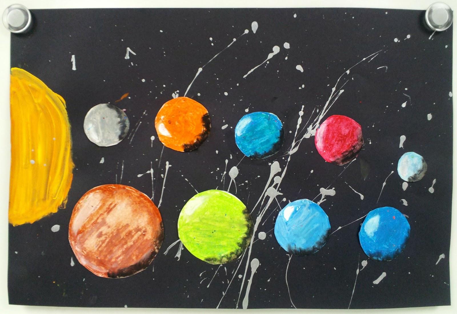 Oil Pastel Solar System