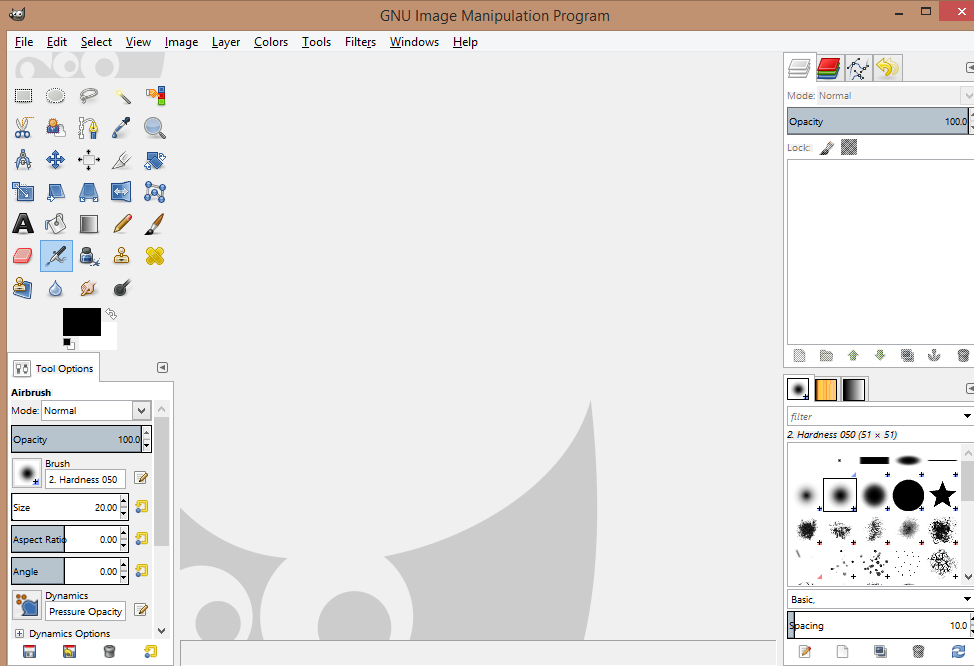 GIMP single window interface