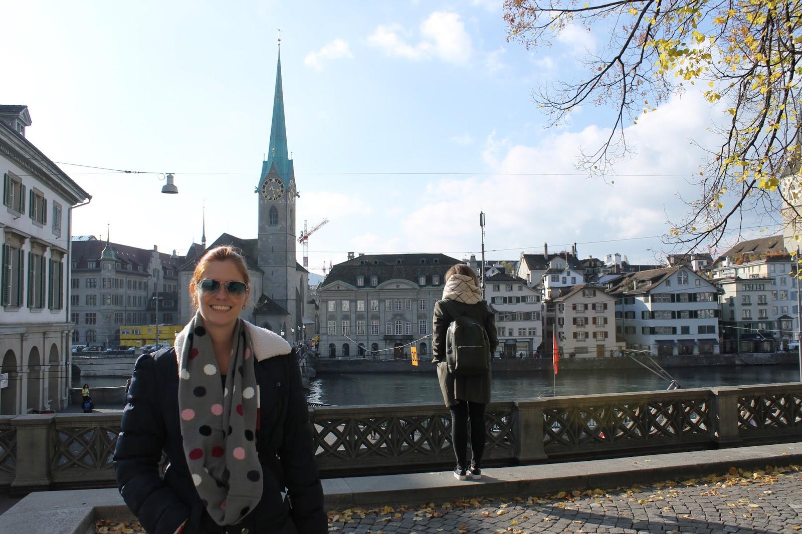 Fraumünster - Zurich - do outro lado do rio