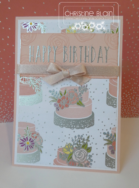 Happy Heart Cards Stampin Up Sweet Soiree Birthday Card In Powder