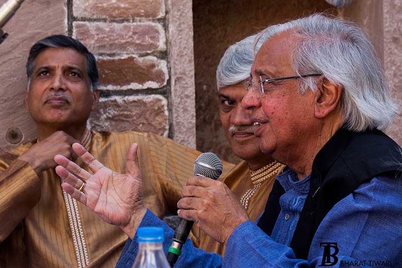 Ashok Vajpeyi and Gundecha Brothers in conversation 'Virasat Ka Arth'— Photo © Bharat Tiwari
