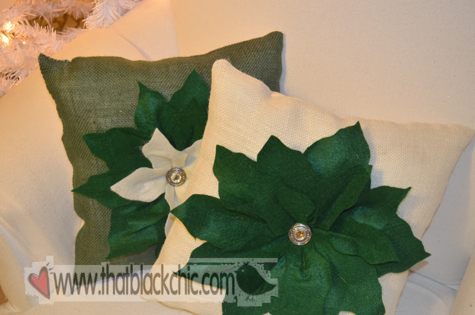 Diy Hi Jack Poinsettia Pillow By Pottery Barn That