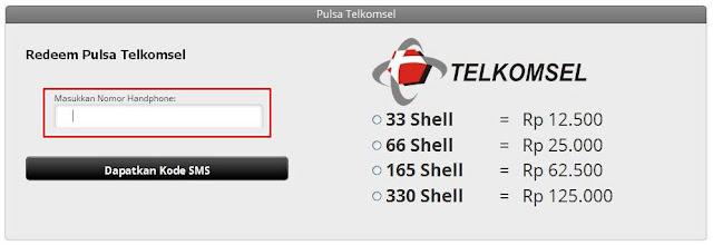 Isi Cash PB Garena Dengan Potong Pulsa Telkomsel by Upoint Dapatkan Xiaomi Redmi 2 Gratis
