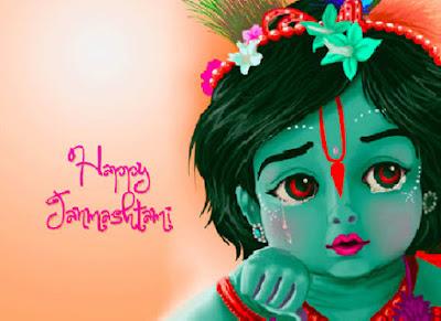 happy janmashtami krishna image