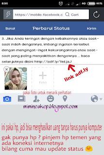 Mendapatkan Uang Dari Adf.ly Tanpa Website Atau Blog
