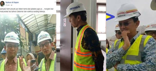 Mau Bully Anies-Sandi Soal Helm Proyek, Malah Kena Jokowi-Ahok, Makanya Mikir Dulu Bong