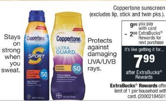 cvs couponers Coppertone cvs deal