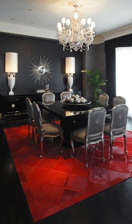 Interior Design Tips: Bold And Dramatic Black Glamour