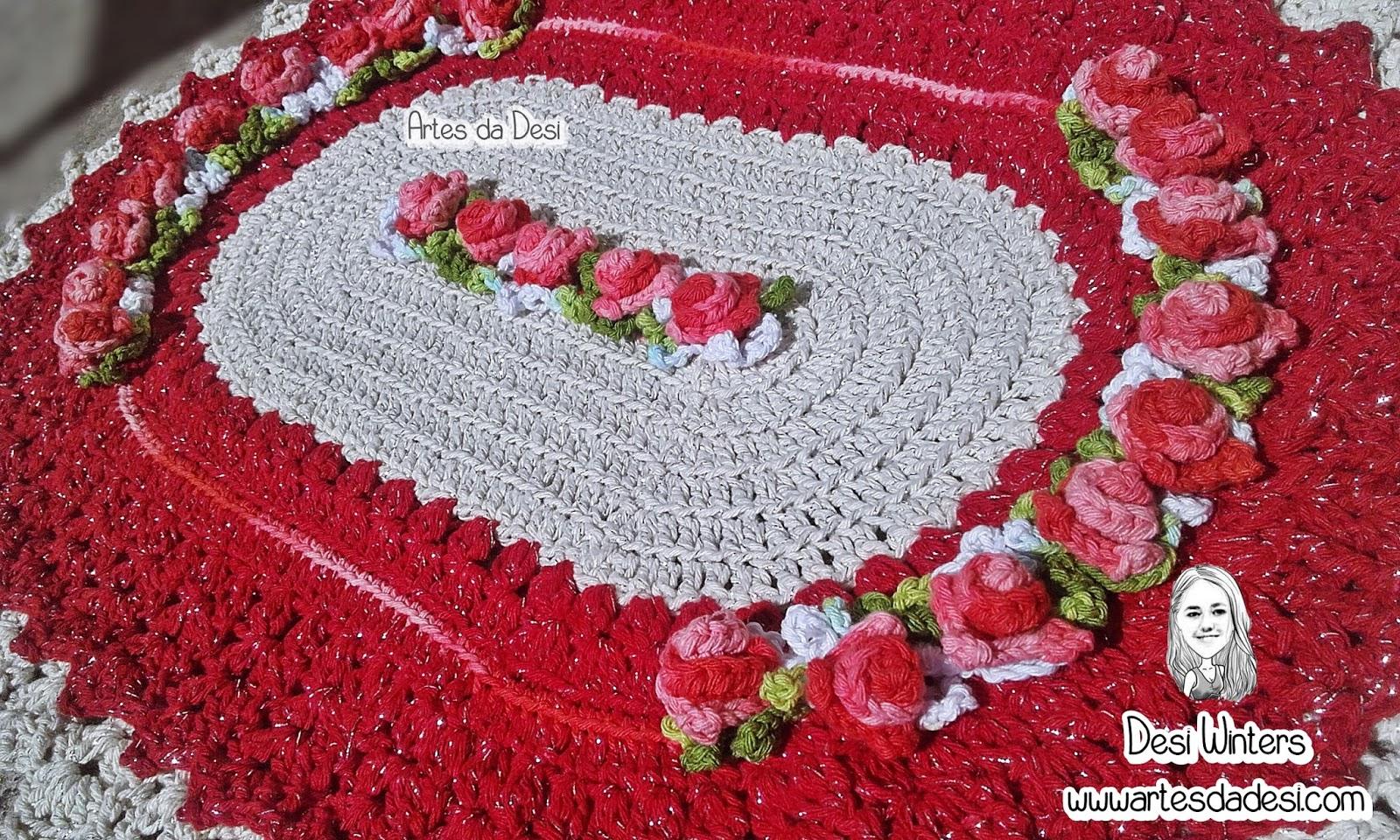 Tapete Oval De Croch Inspirado No Tapete Baronesa  -> Fotos De Tapete De Croche