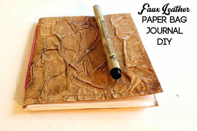 punk projects: Faux Leather Paper Bag Journal DIY