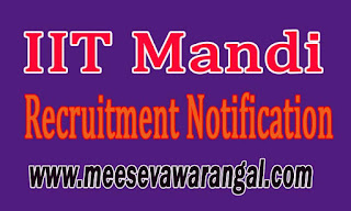 IIT Mandi Recruitment Notification