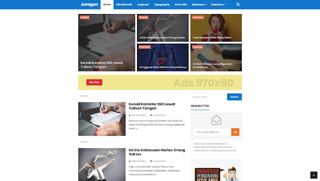 Juragan Blogger Template