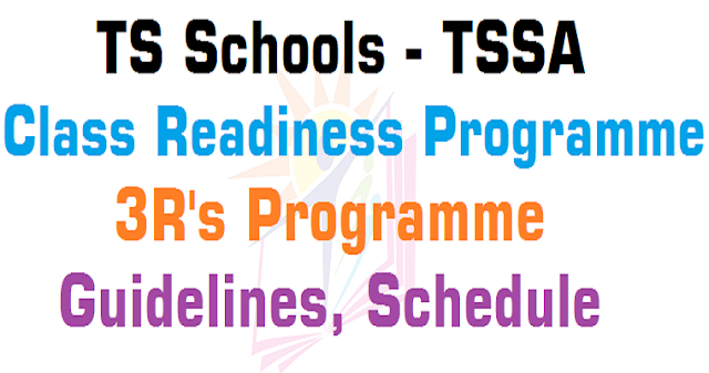 TS Schools,Class Readiness Programme,3R's Programme Guidelines,Schedule