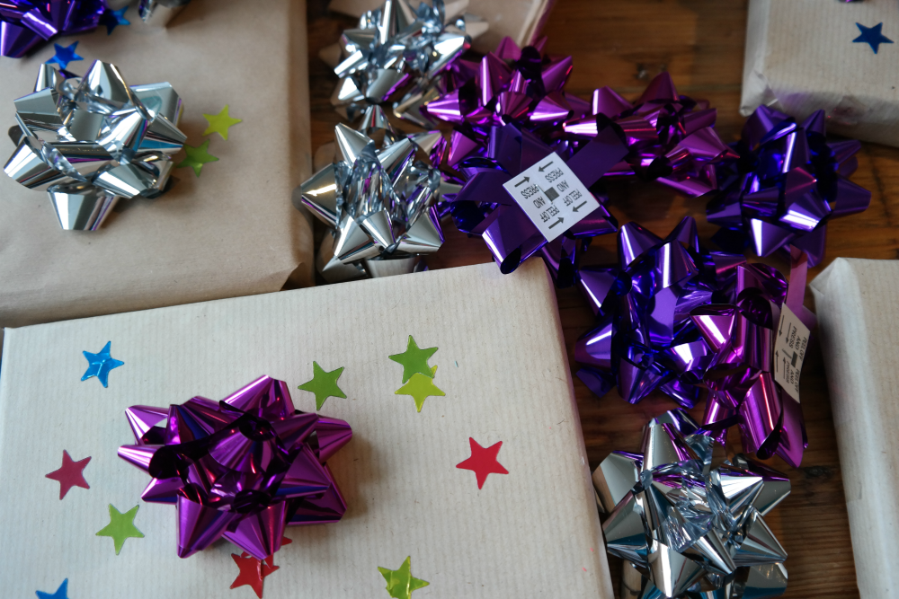 Easy Christmas Prep With Your Toddler - Present Wrapping