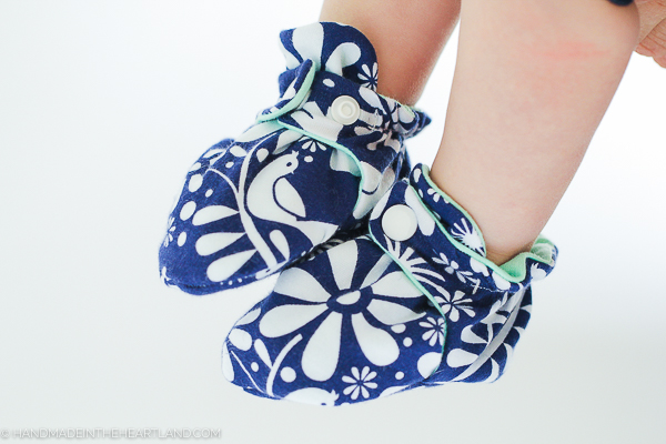 full sewing tutorial for baby booties