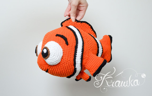 Krawka: Orange clown fish Nemo crochet pattern by Krawka
