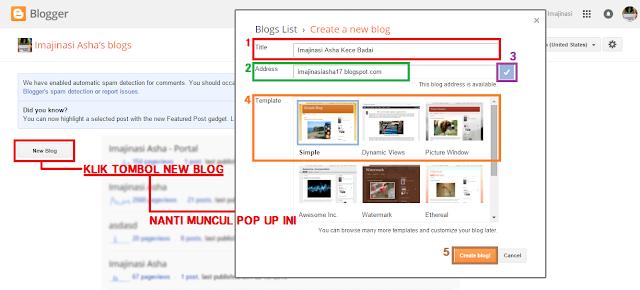 Cara membuat Blog dengan Blogger