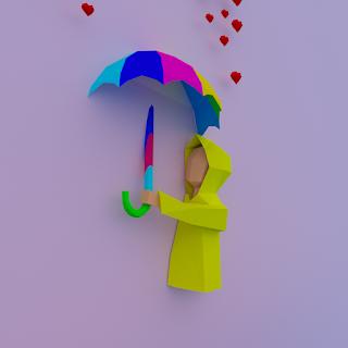 chuva de amor silhouette guarda chuva