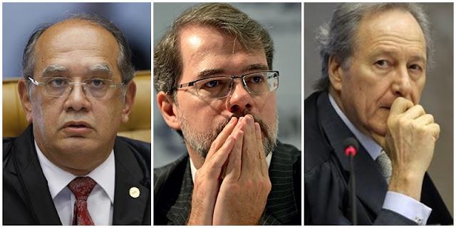 Resultado de imagem para Dias Toffoli, Ricardo Lewandowski e Gilmar Mendes